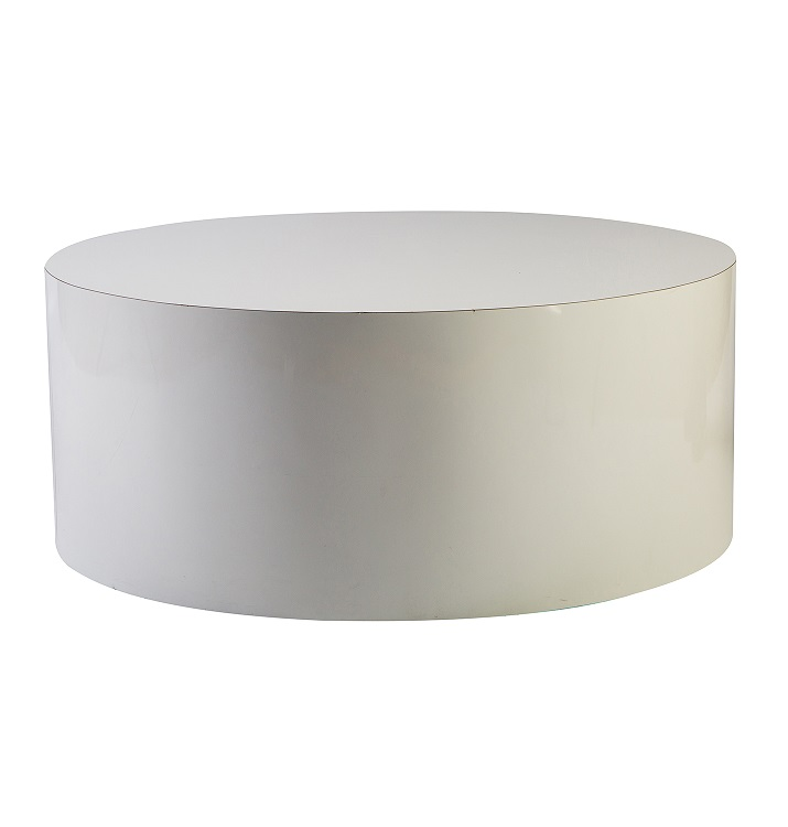 37'' White Coffee Table