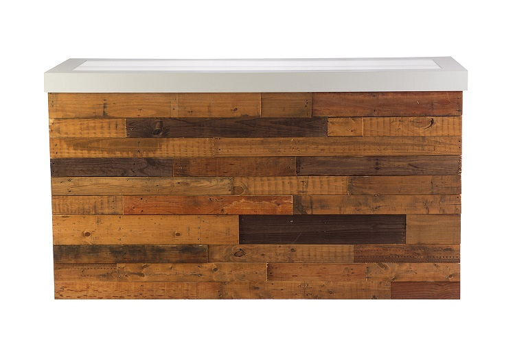6' Reclaimed Wood Illuminated