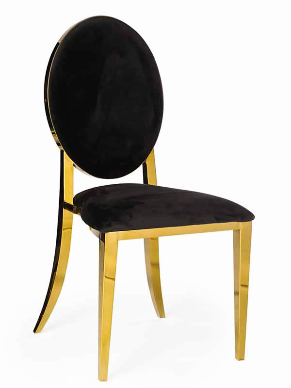 Olay Chair Gold With Black Pads