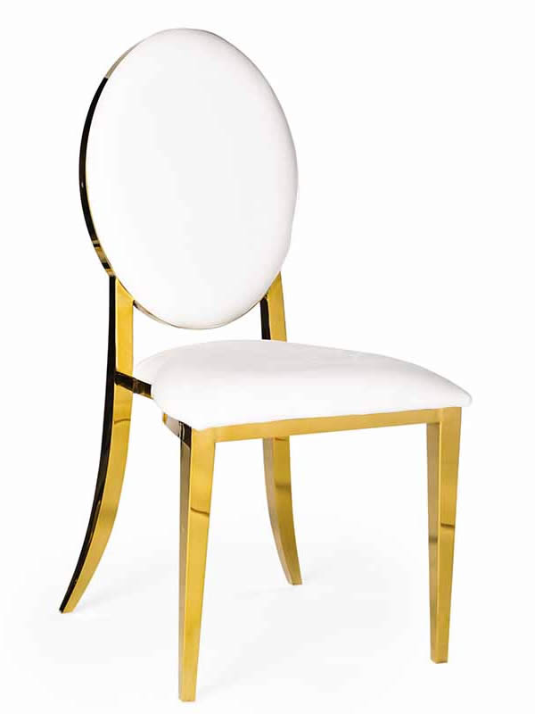 Olay Chair Gold with White Pads