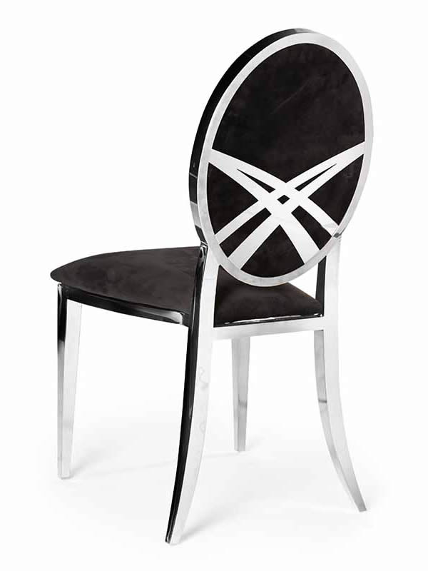 Olay Chair Silver with Deco Design
