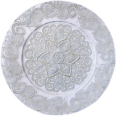 Mandala Silver Glass