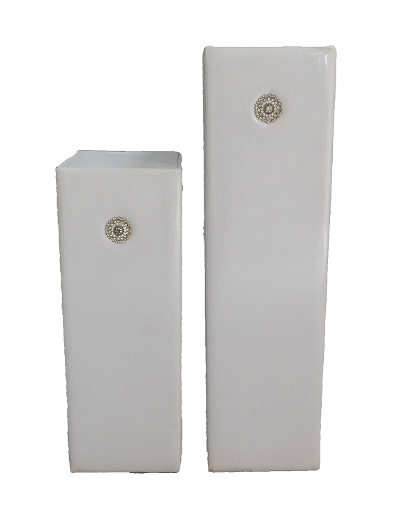Bling White Fabric Column