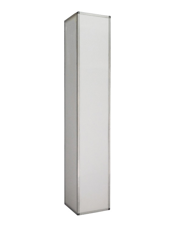 8 Ft White Plexi Column