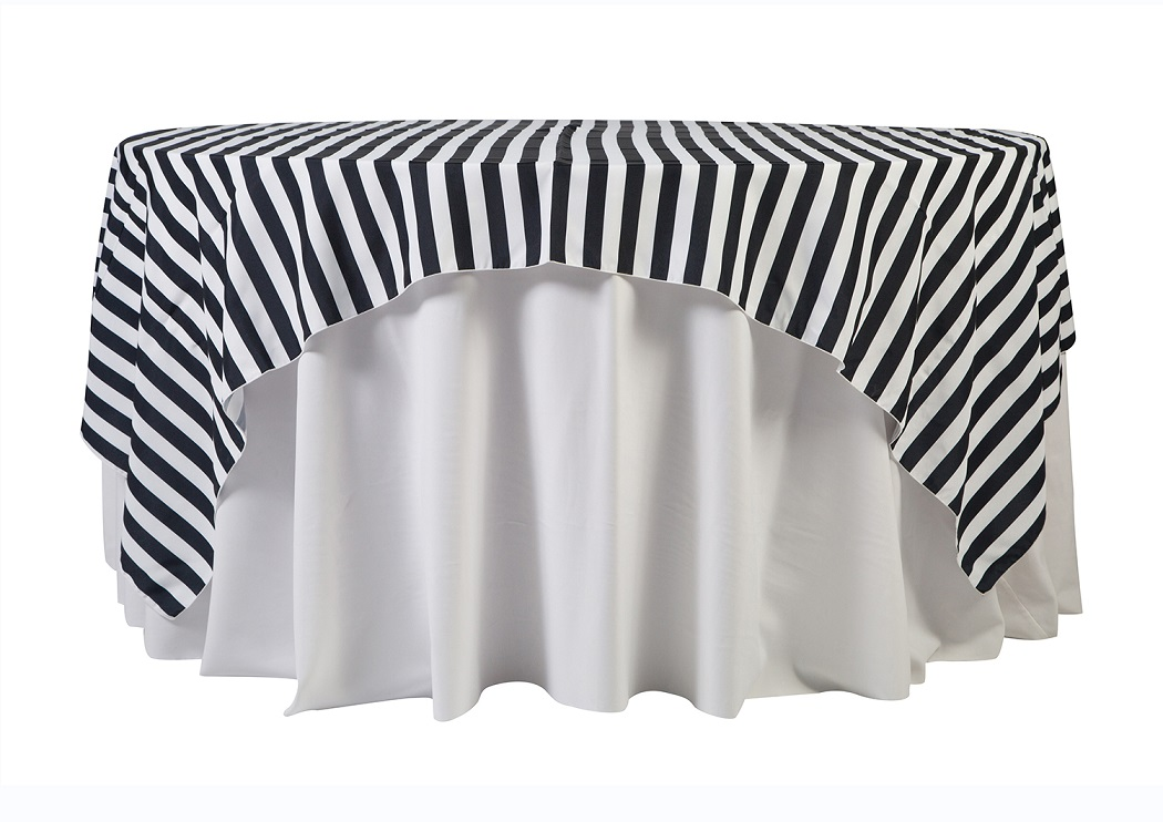 84'' Black Cabana Stripe