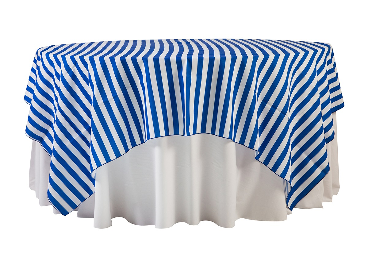 84'' Royal Blue Cabana Stripe