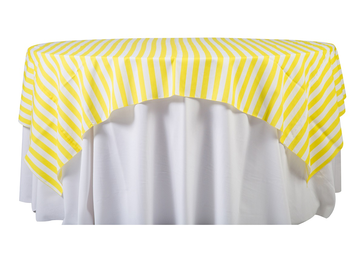84'' Yellow Cabana Stripe