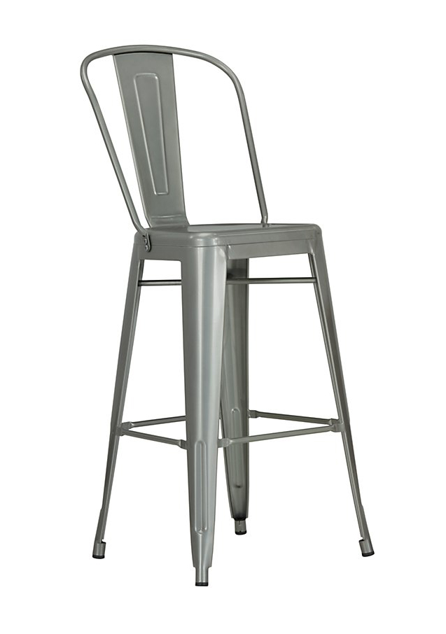 Philia Metal Stool with Back
