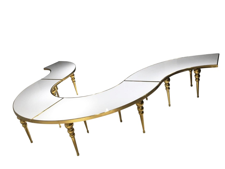 Gold Serpentine Table